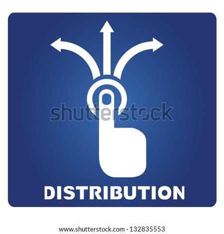 distribution - stock vector