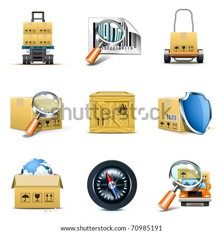Distribution and shipping icons | Bella series - stock vector