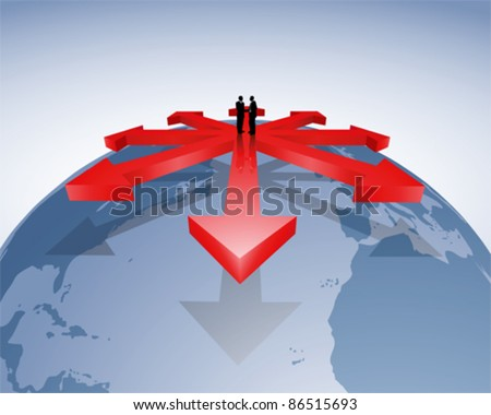 Distribution channels - stock vector