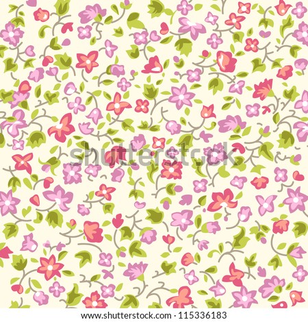 ditsy floral background - stock vector
