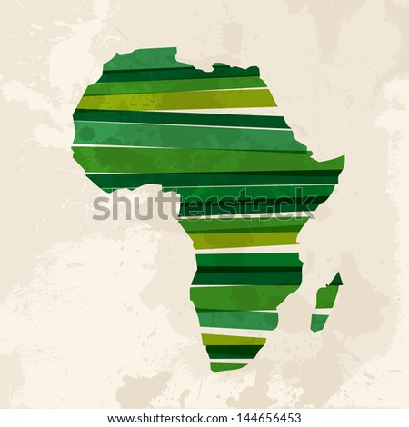 Diversity colors transparent bands Africa over grunge background. EPS10 file version. This illustration contains transparency and is layered for easy manipulation and custom coloring. - stock vector