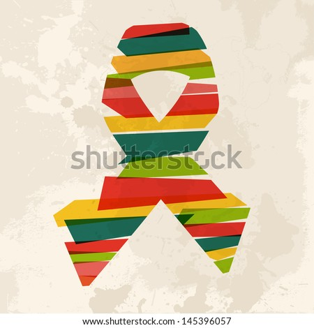 Diversity colors transparent bands ribbon over grunge background. EPS10 file version. This illustration contains transparency and is layered for easy manipulation and custom coloring. - stock vector