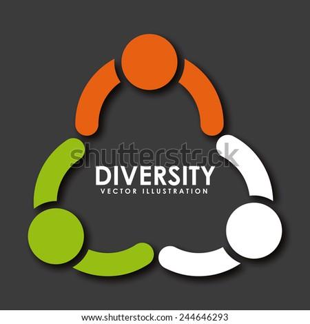 diversity concept design, vector illustration eps10 graphic - stock vector