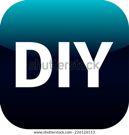 DIY blue icon - do it yourself, for web, internet or phone app - stock vector
