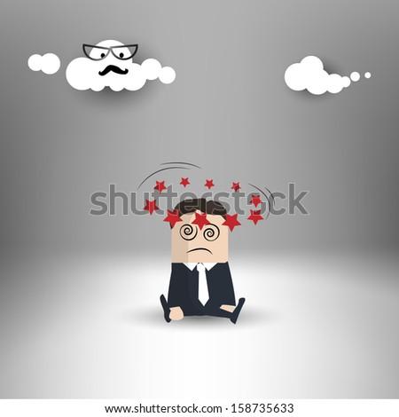 Dizziness - Hypnosis - stock vector