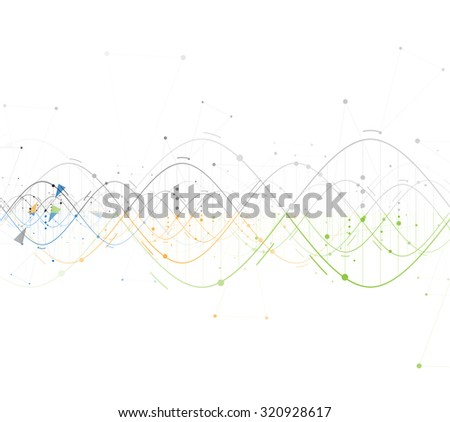 DNA Abstract background collection. Futuristic technology interface. Vector format - stock vector