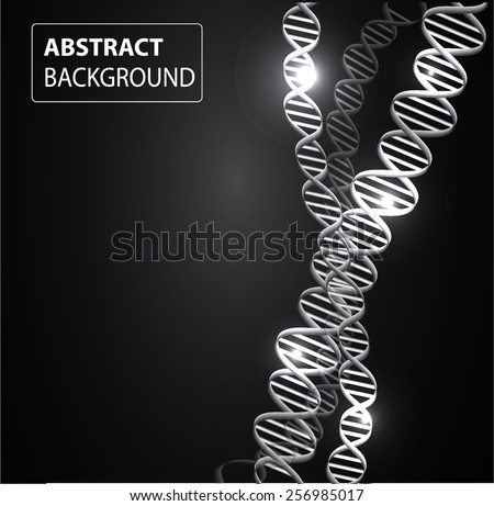 DNA background. molecular structure of planar elements. vector. black Light Abstract Technology background for computer graphic website internet and business. - stock vector