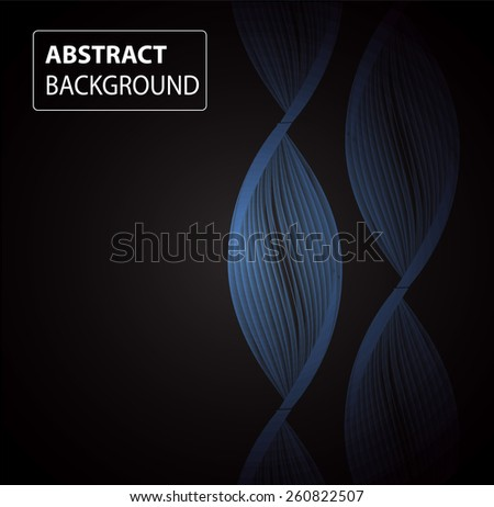 DNA background. molecular structure of planar elements. vector. black Light Abstract Technology background for computer graphic website internet and business. text box. card. banner - stock vector