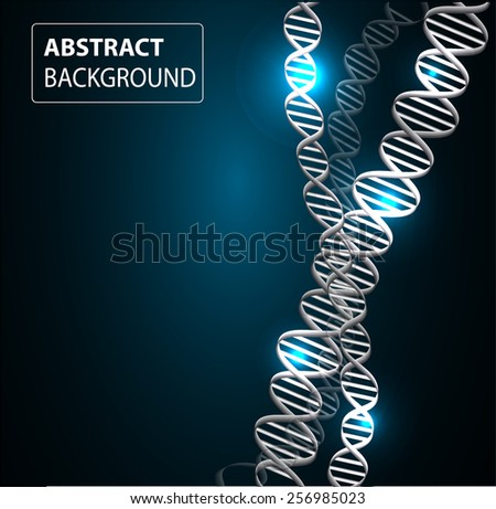 DNA background. molecular structure of planar elements. vector. blue Light Abstract Technology background for computer graphic website internet and business. - stock vector