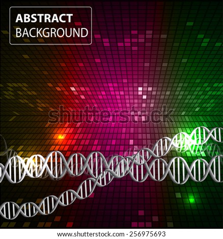 DNA background. molecular structure of planar elements. vector. colorful Light Abstract Technology background for computer graphic website internet and business. text box. Tables, mosaic - stock vector