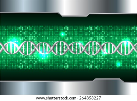 DNA background. molecular structure of planar elements. vector. green Light Abstract Technology background for computer graphic website internet and business. silver. Pixel, mosaic, table - stock vector