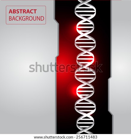 DNA background. molecular structure of planar elements. vector. Light Abstract Technology background for computer graphic website internet and business. text box. red silver background. - stock vector