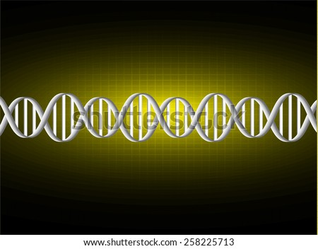 DNA background. molecular structure of planar elements. vector. yellow Light Abstract Technology background for computer graphic website internet and business. sound wave. - stock vector
