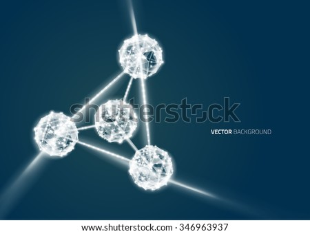DNA molecule structure background. Abstract blur illustration - stock vector