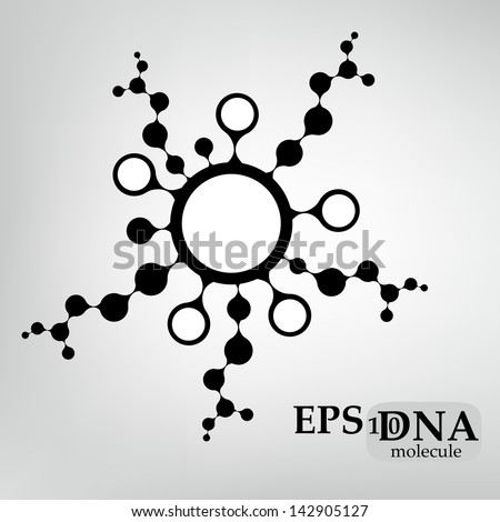 DNA molecule structure background. eps10 vector illustration - stock vector