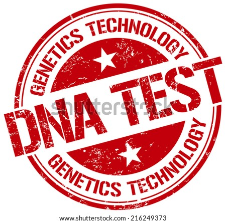 dna test stamp - stock vector
