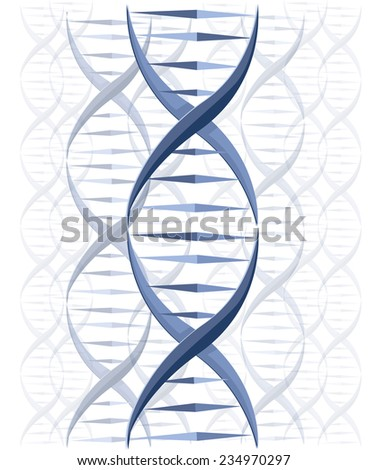 DNA vector background - stock vector