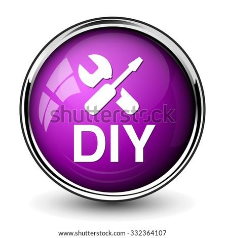 Do it yourself button stock vector