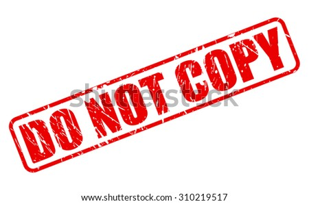 Do not copy red stamp text on white - stock vector