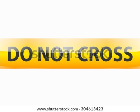 Do not cross red stamp text on white - stock vector