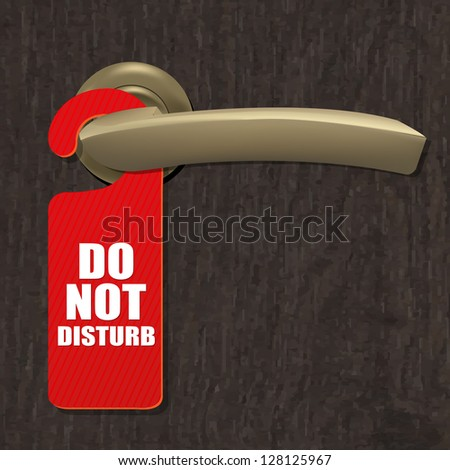 Do Not Disturb Sign With Gradient Mesh, Vector Illustration - stock vector