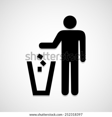 Do not litter icon great for any use. Vector EPS10. - stock vector