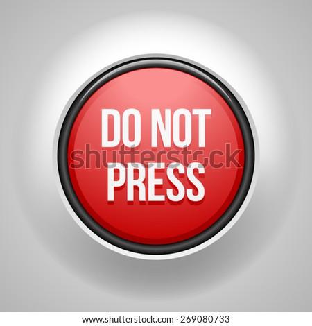 Do not press button - stock vector