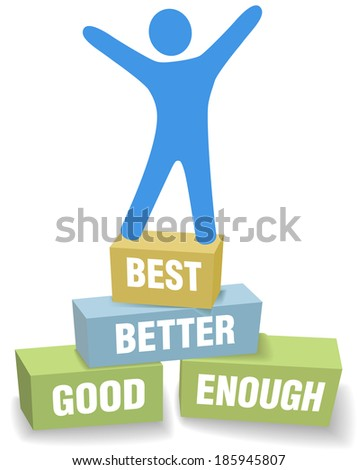 Do your personal best and celebrate successful self improvement - stock vector