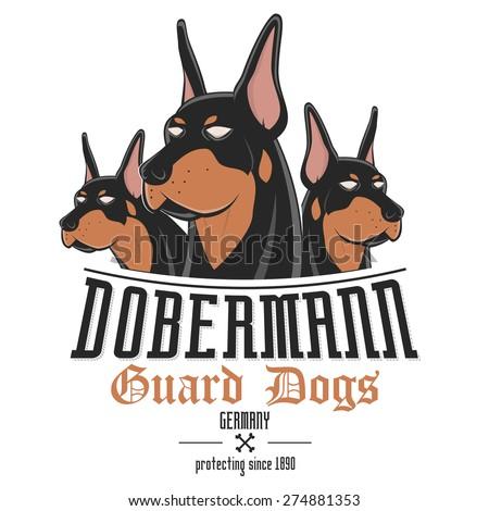 dobermann dog vector illustration - stock vector