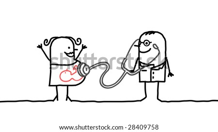 doctor and mother - stock vector