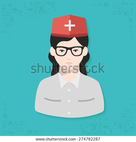 Doctor design on blue background,clean vector - stock vector