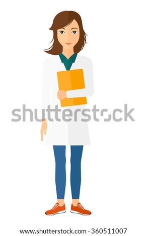 Doctor holding file. - stock vector