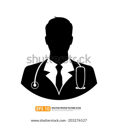 Doctor icon on white background - stock vector