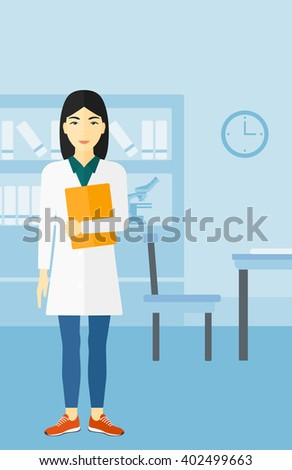 Doctor in medical office. - stock vector