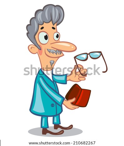Doctor oculist, ophthalmologist - stock vector