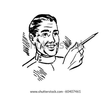 Doctor 2 - Retro Clip Art - stock vector
