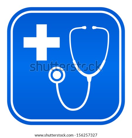 Doctor room vector symbol - stock vector