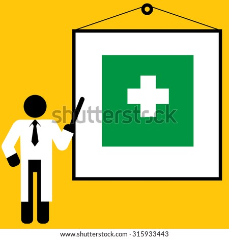 doctor training first aid for training or teaching : medical concept vector - stock vector