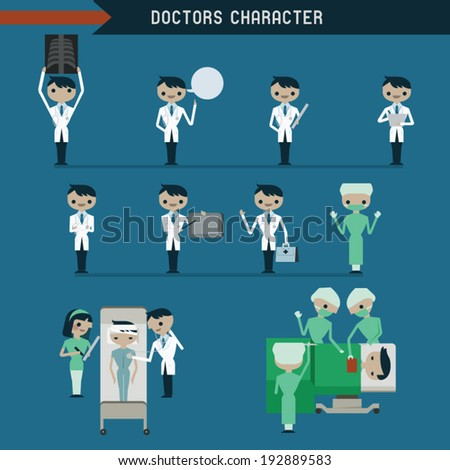 Doctors character - stock vector