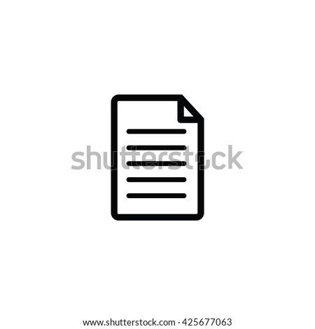 Document Icon, Document Icon Eps10, Document Icon Vector, Document Icon Eps, Document Icon Jpg, Document Icon Picture, Document Icon Flat, Document Icon App, Document Icon Web, Document Icon Art - stock vector