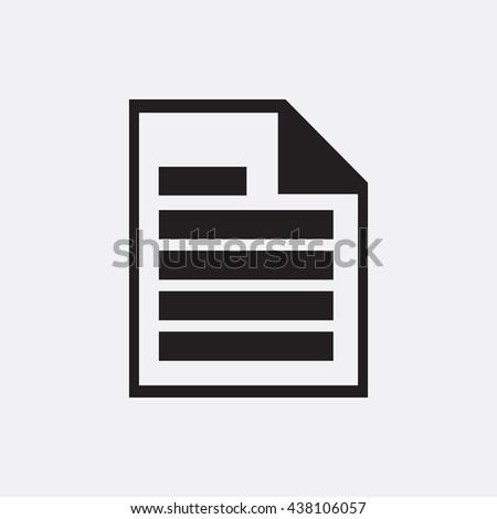 Document Icon, Document Icon Eps10, Document Icon Vector, Document Icon Eps, Document Icon Jpg, Document Icon, Document Icon Flat, Document Icon App, Document Icon Web, Document Icon Art - stock vector