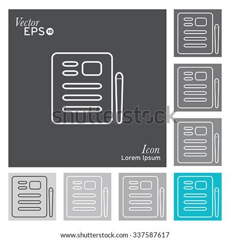 Document icon - vector, illustration. - stock vector