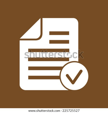 Document  with Ok  icon. - stock vector