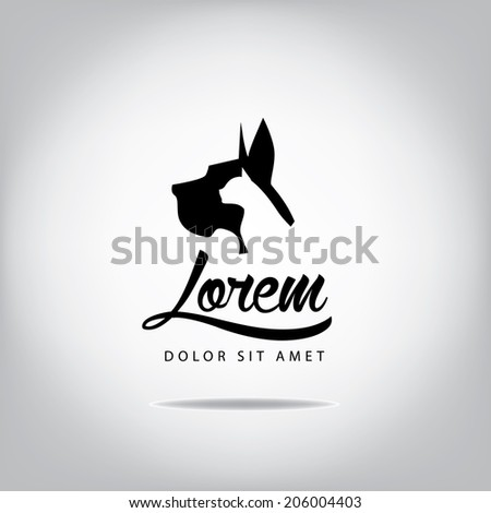 Dog and cat head icon design EPS 10 vector, grouped for easy editing. No open shapes or paths. - stock vector