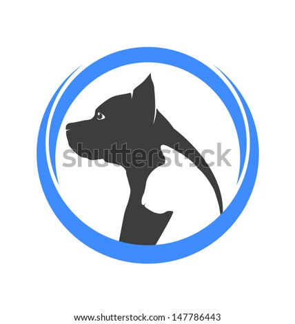 Dog and cat silhouettes illustration vector - stock vector