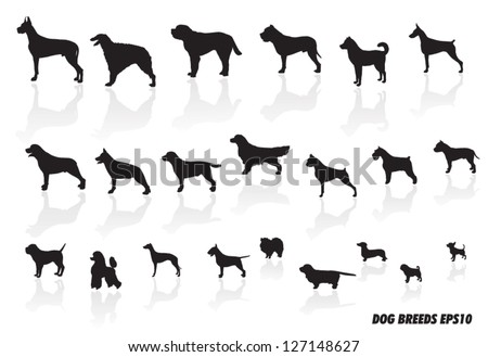 dog breed icons - stock vector