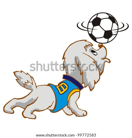 Dog Cartoon Character attraction - stock vector