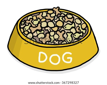 dog food / cartoon vector and illustration, hand drawn style, isolated on white background. - stock vector
