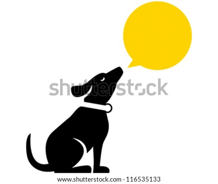 Dog Howling - stock vector