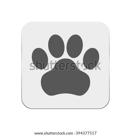 Dog paw icon. - stock vector